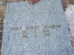 "Nancy ""Nannie"" <I>Knight</I> Bradham"