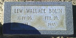 """Luther Wallace """"Lew"""" Bolin"""