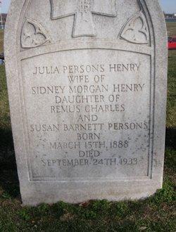 Julia Barnett <I>Persons</I> Henry