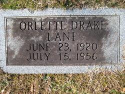 Orlette <I>Drake</I> Lane