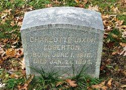 Charlotte Elizabeth <I>Dixon</I> Edgerton