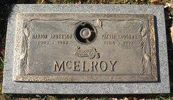 Pattie Imogean <I>Johnston</I> McElroy