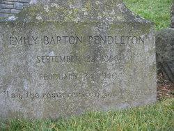 Emily <I>Barton</I> Pendleton