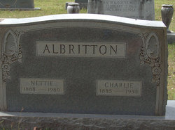 Fannie Nettie <I>Edwards</I> Albritton