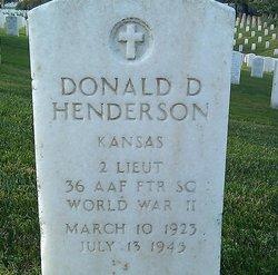 Donald D Henderson