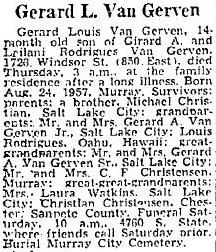 """Gerard Louis """"Punkin"""" Van Gerven"""