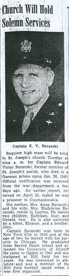 Capt Edward Victor Baranski