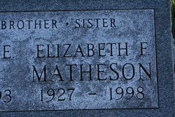 "Elizabeth Frances ""Betty"" <I>Grimes</I> Matheson"