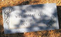 """Wilhamina Mae """"Willie"""" <I>McCown</I> Akin"""
