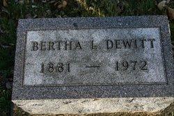 Bertha Lenora <I>Reiter</I> DeWitt