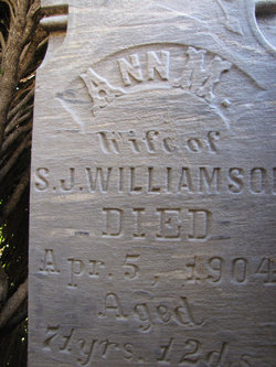 Ann Marie Barnes Williamson (1833-1904) - Find A Grave ...