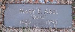 """Mary E """"Quig"""" <I>Quigley</I> Abel"""
