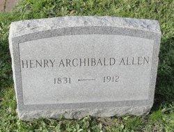 Capt Henry Archibald Allen
