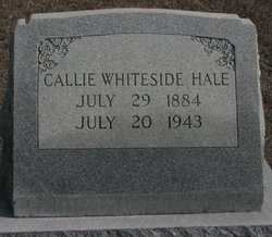 Callie Young <I>Whiteside</I> Hale