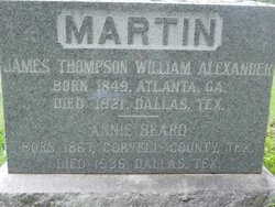 James Thompson William Alexander Martin