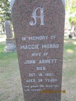 Maggie <I>Munro</I> Arnett