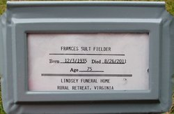 Frances Sult Fielder 1935 2011 Find A Grave Memorial
