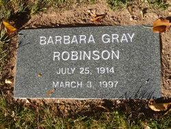 Barbara <I>Gray</I> Robinson
