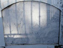 Anne Overman <I>Bushnell</I> Simpson