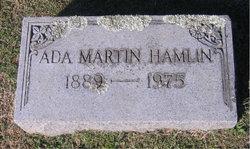 Ada Lee <I>Martin</I> Hamlin