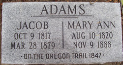 Mary Ann <I>Mark</I> Adams