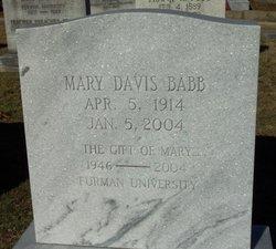 Mary <I>Davis</I> Babb