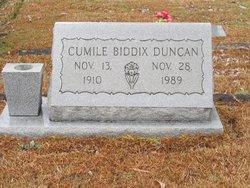 Mary Cumile <I>Biddix</I> Duncan