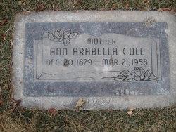 Ann Arabella <I>Loader</I> Cole