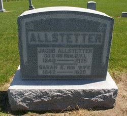 Sarah Elizabeth <I>Bowsher</I> Allstetter