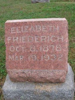 Elizabeth <I>Loomis</I> Friederich