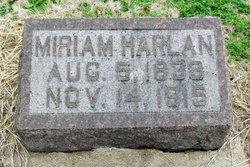 Miriam <I>Holmes</I> Harlan