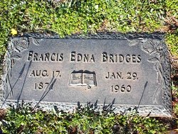 "Frances Edna ""Fannie"" <I>Donnell</I> Bridges"