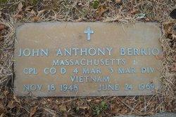 LCpl John Anthony Berrio
