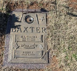 """M L """"Slim"""" Baxter"""