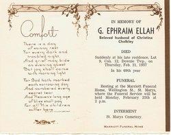 George Ephraim Ellah