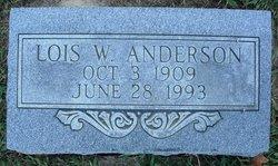 Lois Wilmetta <I>Kever</I> Anderson