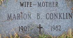 Marion B <I>Rivard</I> Conklin