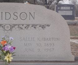 Sallie Katherine <I>Barton</I> Davidson