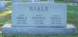 Frances M <I>Faught</I> Baker