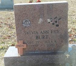 Sylvia Ann <I>Rice</I> Burt