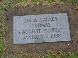 Julia Belle <I>Lackey</I> Thomas