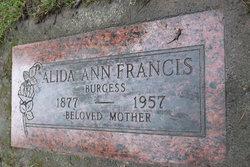 Alida Ann <I>Francis</I> Burgess