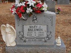 Mary J. <I>Dodds</I> Baldwin
