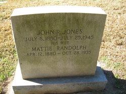 Mattie Lee <I>Randolph</I> Jones
