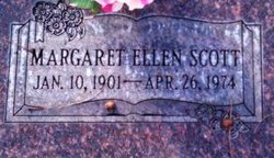 Margaret Ellen <I>Hadfield</I> Scott