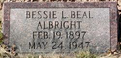 Bessie L <I>Beal</I> Albright