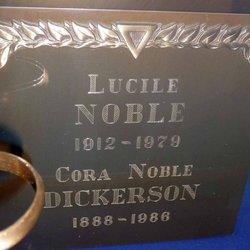 """Cora Noble """"CoCo"""" <I>Smith</I> Dickerson"""
