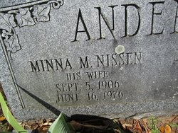 Minna M <I>Nissen</I> Andersen