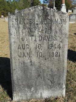Elizabeth Frances <I>Workman</I> Davis