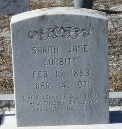 Sarah Jane <I>Wildes</I> Corbitt